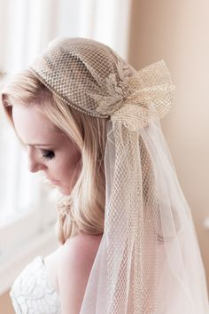 Juliet Cap Wedding Veil Alencon Lace Rhinestone by veiledbeauty