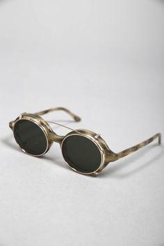 DOC CLIP-ON WOLF SUN #lunettes #de #soleil #ronde #homme #femme #men #women  #sunglasses #handmade #Carl #Zeiss #Graduate #Han #Kjobenhavn 135€