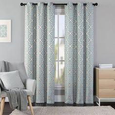 geometrical print curtains