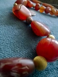 Ancient and Old carnelian beads strand by MetalPearlsFireStone