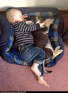 a boy and his dog, growing up together♥