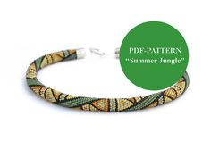 PDF-PATTERN  Summer Jungle  for bead crochet by Chudibeads on Etsy