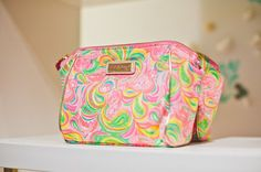 Lilly Pulitzer Colony Printed Cosmetic Bag shown in Multi All Nighter Accessories Small