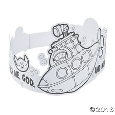 Color Your Own Under the Sea Crowns - OrientalTrading.com