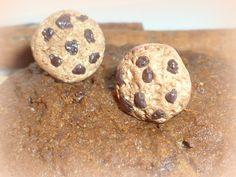 Cookie Earrings, Chocolate Cookies Jewelry, Mini Food Jewelry, Polymer Clay Earrings, Kawaii Jewelry, Choco cookies