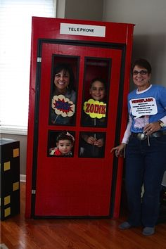 If you want to do a photobooth, we should consider a super hero one.