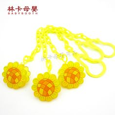 Baby Chupeta Accessories Yellow Pacifier Clips Plastics Baby Product Cartoon Animal Multi Chain To Prevent From Falling