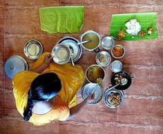 serving food , tamil culture way