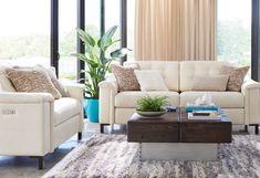 Luke duo reclining sofa room scene