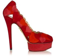 Valentine's Day shoes! Designer Charlotte Olympia Designer Heels with hearts. #ValentinesDay @Youngevity Essential Life Sciences Essential Life Sciences :)