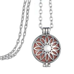 Find More Pendant Necklaces Information about  Lobster Clasp Zinc Alloy Steampunk Sunflower Hollow Locket Diffuser Necklace With Glow Ball,High Quality necklace with,China diffuser necklace Suppliers, Cheap zinc alloy from Winslet&Jean on Aliexpress.com