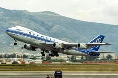 Olympic Airlines, Greek Flag, Commercial Aircraft, Civil Aviation, Boeing 747, Jet Plane, Athens, Olympics, Vintage Airline