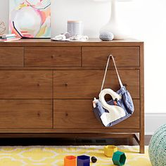 Taylor 7-Drawer Walnut Dresser