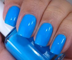 Essie: ♥️ Im Addicted ♥️ from the Too Taboo Summer Neons Collection 2014 great blue nail polish Hot Pink Nails, Bright Nails, Fancy Nails, Neon Blue Nails, Bright Nail Polish, Pretty Nails, Royal Blue Nail Polish, Manicure Y Pedicure, Essie Nail Polish