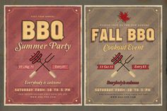 Retro BBQ Flyer by Imagearea on @creativemarket