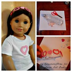 : Make it Monday- Doll Recycled Water Bottle Headband Dream.: Make it Monday- 18 Doll Recycled Water Bottle Headband American Girl Crafts, American Doll Clothes, American Girls, American Girl Accessories, Doll Accessories, Doll Crafts, Diy Doll, Doll Clothes Patterns, Doll Patterns