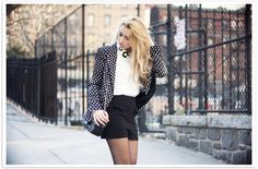 Glamgerous - Fashion Blog: Flower, Pois and Bow #bow #pois #look #flower #blackandwhite #ootd #outfit #blonde #glamgerous #newyork