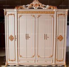 Seis porta do armário antigo branco europeu todo guarda-roupa rural francês mobiliário 04(China (Mainland))