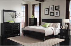 $1,600 4pc, +210 for 5pc - Bedroom Furniture - Bridgeport 6-Piece King Bedroom Set – Black