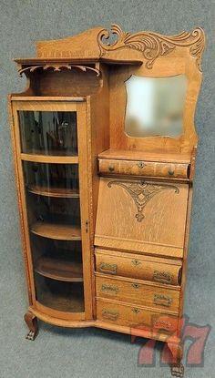 Side by Side #antique #secretary #home #decor