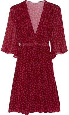 Diane von Furstenberg Printed silk-georgette wrap dress on shopstyle.com
