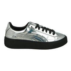 Designer Clothes, Shoes & Bags for Women Pumas Shoes, Women's Shoes, Shoes Sneakers, Puma Platform, Platform Sneakers, Silver Metallic Shoes, Trainers, Basket, Shoe Bag