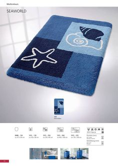Accent your bathroom with this stylish and affordable bath rug. That will make you feel you're in the beach. Sea World, Bath Rugs, Bath Mat, How Are You Feeling, Make It Yourself, Bathroom, Stylish, Beach, Cover