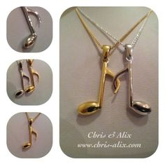 Friendship necklaces To create your own- contact Chris & Alix by writing to mailto:info Bff Necklaces, Best Friend Necklaces, Friendship Necklaces, Best Friend Gifts, Gifts For Friends, Band Nerd, Friendship Love, Music Jewelry, Instruments