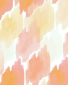 Pink/Orange #Ombre Watercolor. #pattern #illustration