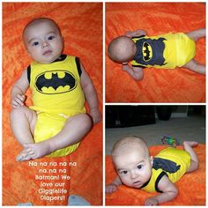 "Bat Baby  www.gigglelife.com  Giggle Life Cloth Diapers  On your next order enter the promo code ""GLFB13"", your child's age and gender in the comment section during the checkout you will receive a free gift valued from $7.99 to $34.99. Applies to purchases of 10 or more diapers and can't be combined with any other offers."
