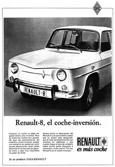 Renault 8 advertisement from the 1960s, Spain