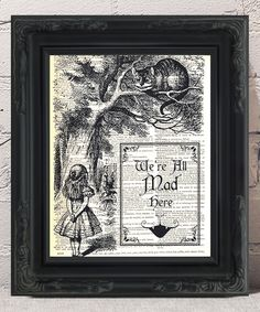 Another great find on #zulily! 'We're All Mad Here' Dictionary Art Print by Fresh Prints of CT #zulilyfinds
