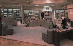 Belk, Rocky Mount, North Carolina From The Best of Store Designs Retro Interior Design, 80s Design, Store Design, Decor Pad, Vintage Interiors, Interior And Exterior, House, Rocky Mount, North Carolina