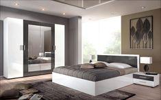 Set dormitor Porto pentru saltea 160/200 | alb luciu + antracit luciu | Mobila Videnov Room Goals, Design Case, Luxurious Bedrooms, My Room, Interior Design, Luxury, Furniture, Home Decor, Decorating Ideas
