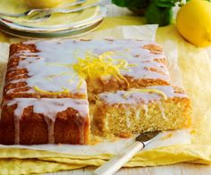 Fluffy, golden and bursting with citrus flavour - there's lots to love about lemon cake. Check out our best recipes including lemon syrup cake, lemon drizzle cake, angel food cake and Lemon Syrup Cake, Lemon Drizzle Cake, Lemon Recipes, Cake Recipes, Baking Recipes, Sweet Recipes, Chocolate Ganache Tart, Chocolate Brownies, Plum Pie