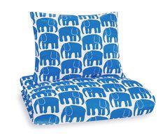 Elefantti- lasten pussilakanasetti