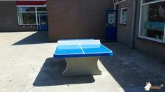 Pingpongtafel Afgerond Blauw bij Frankendaelschool in Callantsoog