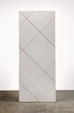 """1002 - CHECK An interior door of inter-woven lines of varying depths and widths . , 1002 - CHECK An interior door of inter-woven lines of varying depths and widths to obtain a contemporary """"check"""" pattern. Inspired by the Burberry store in Chicago. Kitchen Sliding Doors, Sliding Door Design, Wooden Door Design, Main Door Design, Bedroom Door Design, Door Design Interior, Mdf Doors, Room Doors, Wooden Door Hangers"""
