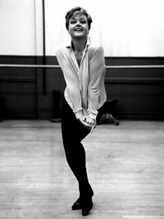 Angela Lansbury rehearsing for Mame