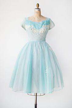 vintage 1950s prom dress | Waltz in the Cloud Dress