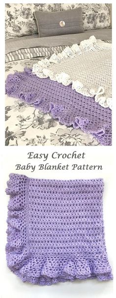 This listing is for a CROCHET PATTERN - Heirloom Lace Baby Blanket - NOT a finished product. This pattern is appropriate for beginners to advanced beginners. The pattern has detailed instructions with pictures. The finished size of this blanket is approximately 28 by 34 inches
