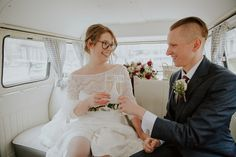 Bride wears a long sleeved lace  Kate Beaumont dress for a modern Northern City Wedding in Leeds. Images by Jamie Sia