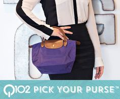 Longchamp - Small amethyst handbag. Go to wkrq.com to find out how to play Q102's Pick Your Purse!