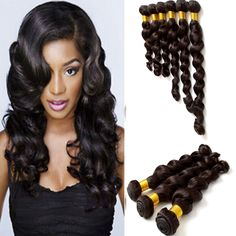 Natural Black Wigiss 100g/pc Brazilian Remy Human Hair Loose Deep Wave Hair #WIGISS #HairExtension