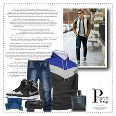 """""""CNDirect 21"""" by zearalenon ❤ liked on Polyvore featuring NIKE, Chanel, Versace, Uri Minkoff, men's fashion and menswear"""