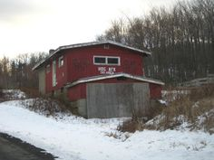 Check out Hogback Mountain Ski Area, an abandoned ski resort in VT.  Remains of lifts and buildings are abound for you to explore in this beautiful setting.