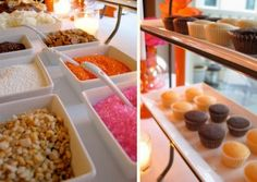 Cupcake bar... I don't know why I hadn't thought of this!