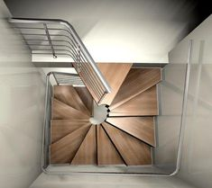 Treppe What do you think of these square spiral staircases from RFserveis? Home Stairs Design, Interior Stairs, House Design, Small Staircase, Staircase Railings, Spiral Staircases, Building Stairs, Building Homes, Steel Stairs