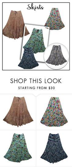 Boho Gypsy Tiered Maxi Skirts by tarini-tarini on Polyvore