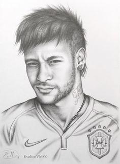 Neymar Jr, Neymar Football, Joker Drawings, Pencil Drawings, Cr7 Wallpapers, Lionel Messi Barcelona, Funny School Memes, Top Tattoos, John Cena